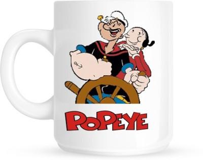 Hainaworld Popeye Driving Coffee  Ceramic Mug