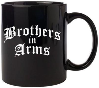 Giftsmate Brothers in Arms Black Ceramic Mug