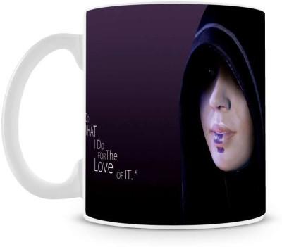 Saledart Mg488-I Do What Love For It Life Saying Message Ceramic Mug