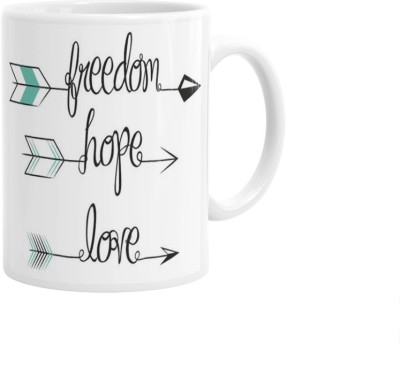 Hainaworld Freedom Hope Love Coffee  Ceramic Mug