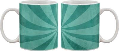Artifa Blue Abstract Porcelain, Ceramic Mug