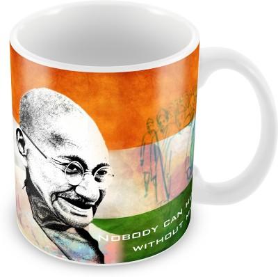 Prinzox Indian Tiranga - Gandhiji Ceramic Mug