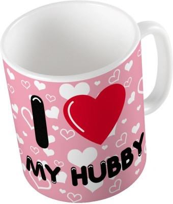 Indiangiftemporium Designer Romantic Pink Color Coffee  696 Ceramic Mug
