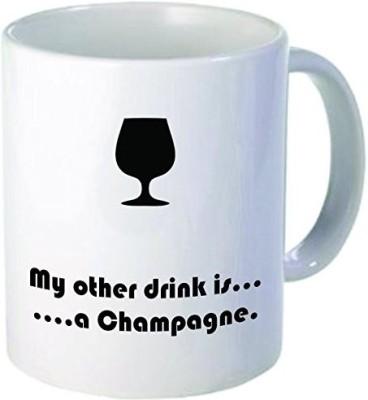 Rikki Knight LLC Knight My Other Drink Champagne 11 oz Ceramic Coffee  Cup Ceramic Mug