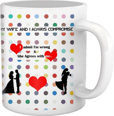 Tiedribbons My Wife and I Always Cushion Cover Ceramic Mug