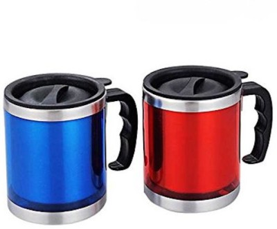 Afinito Red And Blue Stainless Steel Mug