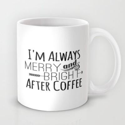Astrode Merry And Bright Ceramic Mug