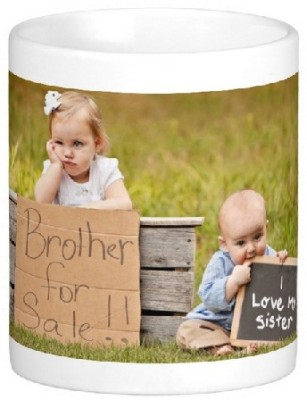 Easyhome Rakhi Special Brother & Sister Ceramic Mug