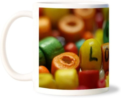 Lovely Collection Multicolour Beads Love Ceramic Mug