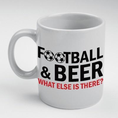 Prokyde Prokyde FOOTBALL & BEER WHATELSE IS THERE?  Ceramic Mug