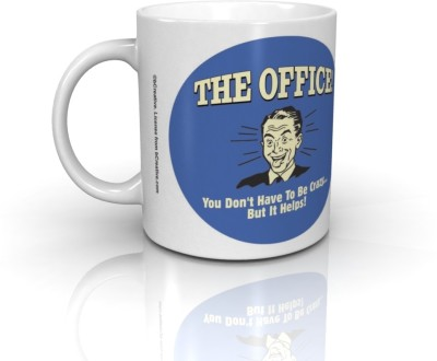 Bcreative The Office You Don,t Have To Be Crazy But It Helps (Officially Licensed) Ceramic Mug
