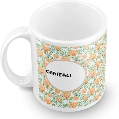 posterchacha Chaitali Floral Design Name  Ceramic Mug