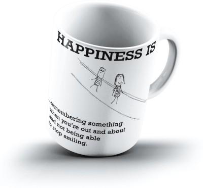 Ucard Happiness Is1241 Bone China, Ceramic, Porcelain Mug