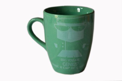 MGPLifestyle Bro you are GENIUS! Quote  in Sea Green Color Ceramic Mug