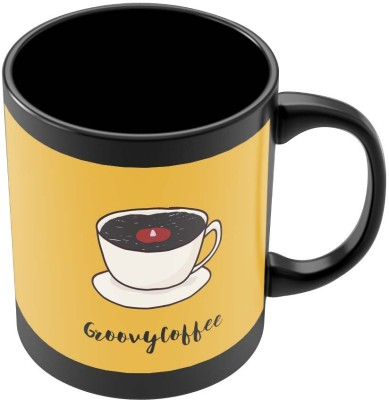 PosterGuy Groovy Coffee Illustration Minimalist Illustration Ceramic Mug