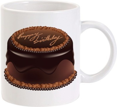 Lolprint Happy Birthday Chocolate Cake Ceramic Mug