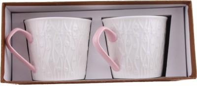 White Gold 923 Pink Porcelain Mug