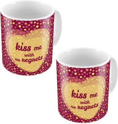 Little India Designer Romantic Easy to Carry Coffee s Pair 763 Ceramic Mug