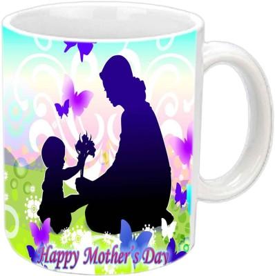 Jiya Creation1 Mother & Cute baby wallpaper Happy Mother's day White Ceramic Mug