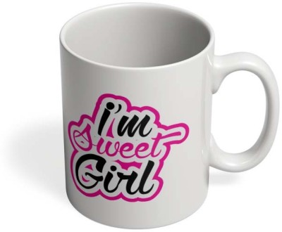 PosterGuy I Am Sweet Girl I Am Sweet Girl, Sweet, Girl, Quote, Love, Pink, Stroke, Print, Product, Online, Low Pricing, High-quality, Design, Illustration, Vector, Graphic. Ceramic Mug