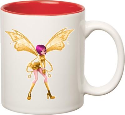 Huppme Angel Princess Queen Inner Red Ceramic Mug