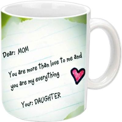Jiya Creation1 Dear Mom Love You White Ceramic Mug