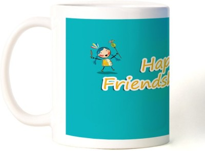Rockmantra Cute Kid Happy Friendship Day Ceramic Mug