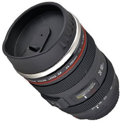 eDeal Super Hit Camera Lens Plastic, Stainless Steel Mug