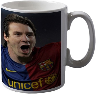 Green India Lionel Messi Football Ceramic Mug