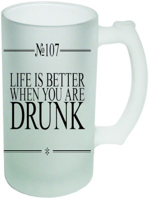 Shopmania Designer Beer-023 Glass Mug