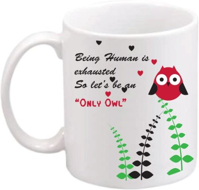 ONLY OWL Gift Motivational Quotes OWL580 Magic Ceramic Mug