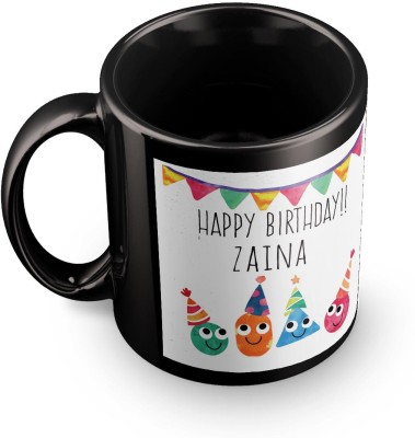 posterchacha Zaina Personalised Custom Name Happy Birthday Gift Tea And Coffee  For Gift Use Ceramic Mug