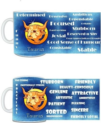 CreativesKart Zodiac Taurus (M) Taurus (F) Compatibility  Ceramic Mug