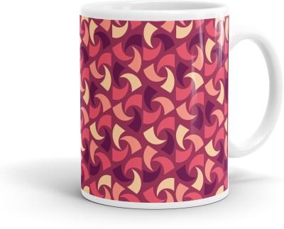 Heartzy Abstract Cashew Pattern  Ceramic Mug