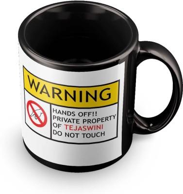 posterchacha Tejaswini Do Not Touch Warning Ceramic Mug