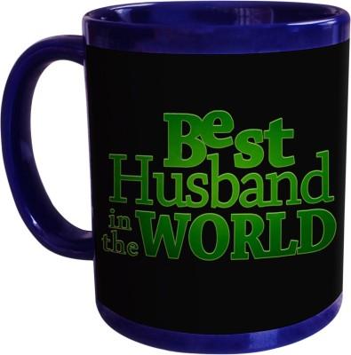 Sajawat Homes Best Husband In The World Blue Coffee Ceramic Mug(350 ml)