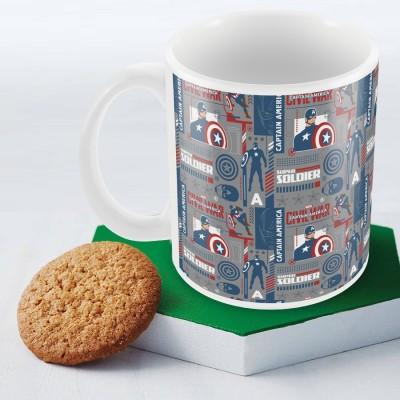 Marvel Civil War-captain soldier Officially Licensed (pack of 1) Ceramic Mug