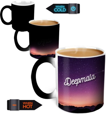 Hot Muggs You,re the Magic… Deepmala Magic Color Changing Ceramic Mug