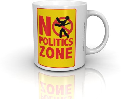 Seven Rays No Politics Zone Ceramic Mug