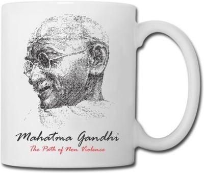 Raga Creations Mahatma Gandhi Theme Ceramic Mug