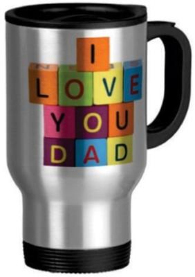 Giftsmate Colorful I Love You Dad Travel Ceramic Mug
