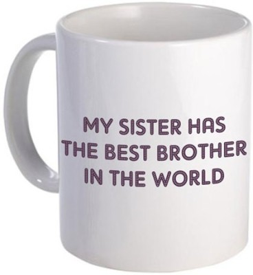 Giftsmate Worlds Best Brother Ceramic Mug