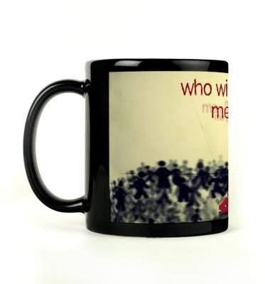 AURRA PRINTED BLACK-780 Ceramic Mug