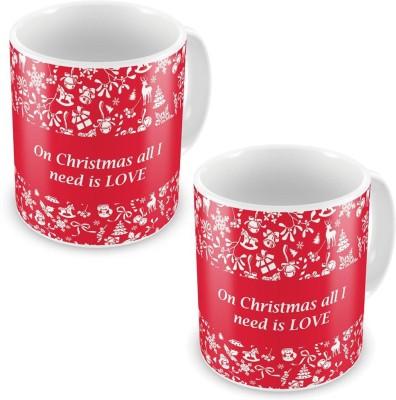 Little India Printed Quotes Design Red Coffee s Pair 591 Ceramic Mug