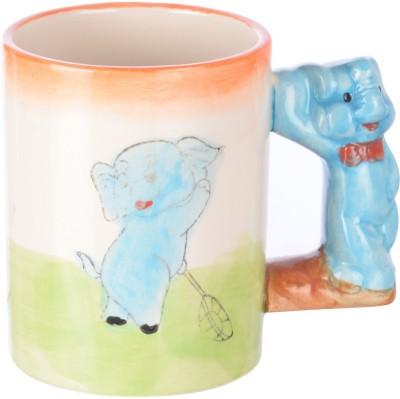 DRL Baby Elephant Sketch Bone China Mug