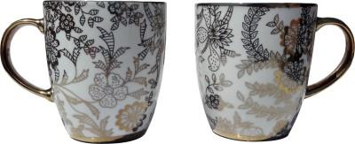 Neos Golden Leaf Coffee Ceramic Mug