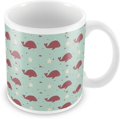 AKUP fish pattern Ceramic Mug