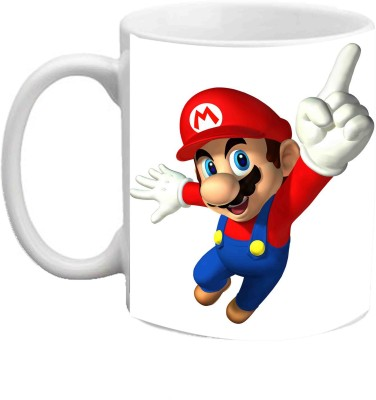 Jiya Creation1 Mario Lovely Multicolor White Ceramic Mug