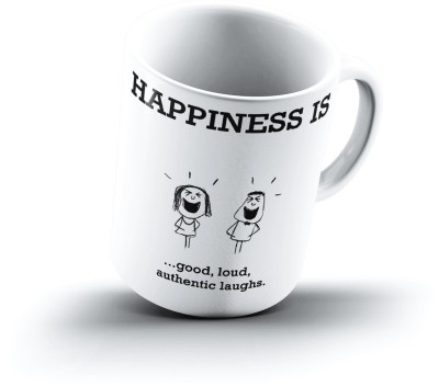 Ucard Happiness Is1795 Bone China, Ceramic, Porcelain Mug