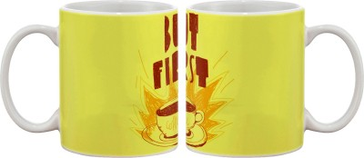 Artifa But First Coffee Design Porcelain, Ceramic Mug